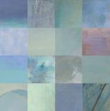 Μπλε τετράγωνα Στοκ Φωτογραφίες