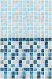 Μπλε τετραγωνικά κεραμίδια με το διάφορο μάρμαρο αποτελεσμάτων Στοκ φωτογραφία με δικαίωμα ελεύθερης χρήσης