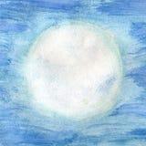 Μπλε τετραγωνικό πλαίσιο Watercolor Ζωγραφική χεριών Στοκ Εικόνες