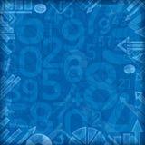 Μπλε τετραγωνικό υπόβαθρο αριθμών χρηματοδότησης Στοκ εικόνα με δικαίωμα ελεύθερης χρήσης