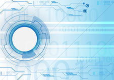 Μπλε τεχνολογία υποβάθρου Στοκ φωτογραφίες με δικαίωμα ελεύθερης χρήσης
