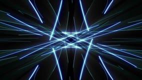 Μπλε τηλεοπτική επίδραση υποβάθρου ακτίνων λέιζερ απόθεμα βίντεο