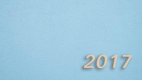 μπλε τοίχος του 2017 Στοκ Εικόνες