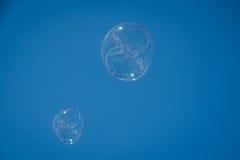 μπλε τονικότητα δομών σαπουνιών φυσαλίδων Στοκ φωτογραφία με δικαίωμα ελεύθερης χρήσης
