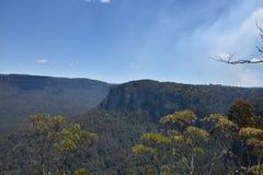Μπλε τοπίο πάρκων βουνών εθνικό, NSW, Αυστραλία Στοκ Φωτογραφία