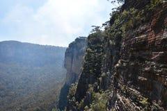 Μπλε τοπίο πάρκων βουνών εθνικό, NSW, Αυστραλία Στοκ φωτογραφίες με δικαίωμα ελεύθερης χρήσης