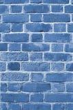 μπλε τουβλότοιχος Στοκ εικόνες με δικαίωμα ελεύθερης χρήσης