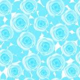 Μπλε τριαντάφυλλα άνευ ραφής Στοκ εικόνες με δικαίωμα ελεύθερης χρήσης