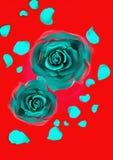 μπλε τριαντάφυλλα Στοκ Φωτογραφία