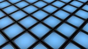 Μπλε τρισδιάστατη απεικόνιση υποβάθρου κύβων μετάλλων Στοκ φωτογραφίες με δικαίωμα ελεύθερης χρήσης
