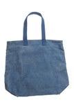 Μπλε τσάντα καμβά υφάσματος που απομονώνεται στο άσπρο υπόβαθρο Στοκ φωτογραφία με δικαίωμα ελεύθερης χρήσης