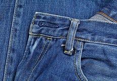 μπλε τσέπη Jean Στοκ Φωτογραφίες