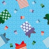 Μπλε τύλιγμα δώρων υποβάθρου Στοκ Εικόνες
