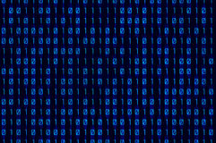 Μπλε δυαδικό Στοκ εικόνα με δικαίωμα ελεύθερης χρήσης