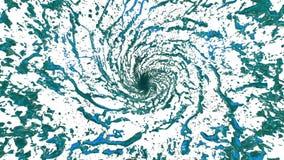 Μπλε υγρός ανεμοστρόβιλος Όμορφος χρωματισμένος χυμός της περιστροφής Απομονωμένη διαφανής δίνη του υγρού όπως την τρισδιάστατη ζ απεικόνιση αποθεμάτων