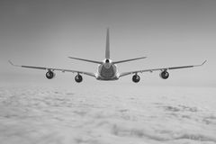 Μπλε υποβάθρου αεροπλάνων ταχύτητας αέρα αεροπορίας ουρανού ταξιδιού σύννεφων αεροπλάνων Στοκ εικόνες με δικαίωμα ελεύθερης χρήσης