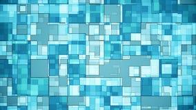 Μπλε υποβάθρου τετραγώνων φιλμ μικρού μήκους