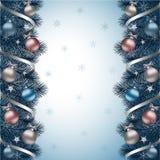 Μπλε υποβάθρου Χριστουγέννων διανυσματική απεικόνιση