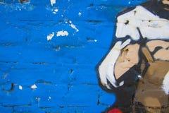μπλε υπόβαθρο γκράφιτι Στοκ φωτογραφία με δικαίωμα ελεύθερης χρήσης