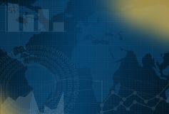 Μπλε υπόβαθρο επιχειρήσεων και χρηματοδότησης με το δολάριο Στοκ Φωτογραφίες