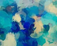 Μπλε υπόβαθρο κτυπημάτων βουρτσών Στοκ Εικόνες