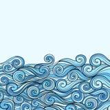 Μπλε υπόβαθρο κυμάτων θάλασσας Στοκ εικόνες με δικαίωμα ελεύθερης χρήσης