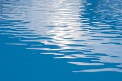 Μπλε υπόβαθρο κυματισμών νερού Στοκ φωτογραφία με δικαίωμα ελεύθερης χρήσης