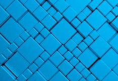 Μπλε υπόβαθρο μεταλλικών πιάτων πλέγματος κύβων χάλυβα Στοκ Εικόνες