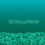 Μπλε υπόβαθρο με τα διακοσμητικά σύνορα επίσης corel σύρετε το διάνυσμα απεικόνισης Στοκ Φωτογραφία