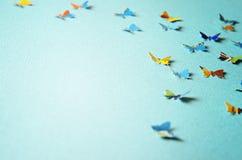 Υπόβαθρο με τις πεταλούδες Στοκ φωτογραφία με δικαίωμα ελεύθερης χρήσης