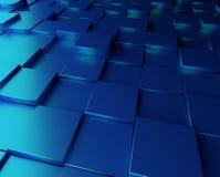 Μπλε υπόβαθρο με τους κύβους Στοκ Φωτογραφία