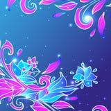 Μπλε υπόβαθρο λουλουδιών Στοκ Εικόνα