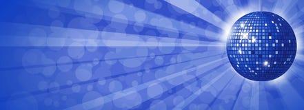 Μπλε υπόβαθρο σφαιρών Disco Στοκ εικόνες με δικαίωμα ελεύθερης χρήσης