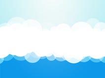 Μπλε υπόβαθρο σύννεφων διανυσματική απεικόνιση