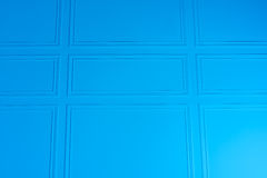 Μπλε υπόβαθρο σύστασης τοίχων με τα σύνορα Στοκ Εικόνες