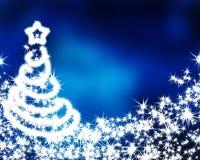 Μπλε υπόβαθρο Χριστουγέννων απεικόνιση αποθεμάτων