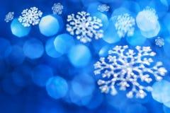 Μπλε υπόβαθρο Χριστουγέννων Στοκ φωτογραφία με δικαίωμα ελεύθερης χρήσης