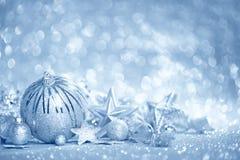 Μπλε υπόβαθρο Χριστουγέννων Στοκ φωτογραφίες με δικαίωμα ελεύθερης χρήσης