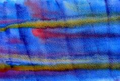 Μπλε υπόβαθρο grunge watercolor υγρό Στοκ Φωτογραφίες