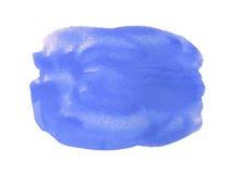 Μπλε υπόβαθρο watercolor που απομονώνεται στο λευκό Στοκ εικόνα με δικαίωμα ελεύθερης χρήσης