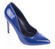 μπλε υψηλό παπούτσι τακουνιών Στοκ Φωτογραφίες