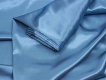 Μπλε υλικό ως υπόβαθρο Στοκ Εικόνες
