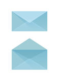 μπλε φάκελος Στοκ Φωτογραφία