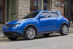 2015 μπλε φορείων της Nissan Juke Στοκ φωτογραφία με δικαίωμα ελεύθερης χρήσης