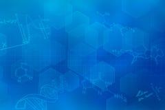 Μπλε φουτουριστικό υπόβαθρο Στοκ εικόνα με δικαίωμα ελεύθερης χρήσης