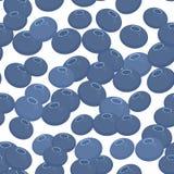 Μπλε φρέσκα juicy μούρα σχεδίων βακκινίων άνευ ραφής στο άσπρο υπόβαθρο διάνυσμα ελεύθερη απεικόνιση δικαιώματος