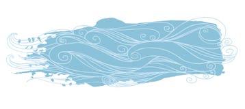 μπλε φυσικά κύματα θάλασσας ανασκόπησης επίσης corel σύρετε το διάνυσμα απεικόνισης Απεικόνιση αποθεμάτων