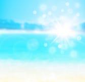 Μπλε φυσικό αφηρημένο υπόβαθρο θαμπάδων Στοκ Φωτογραφία