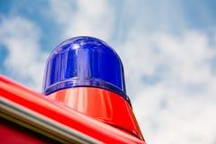 Μπλε φως ενός πυροσβεστικού οχήματος oldtimer Στοκ Εικόνα
