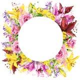 μπλε φωτεινό καλοκαίρι ουρανού κρίνων κήπων λουλουδιών ανασκόπησης η διακοσμητική εικόνα απεικόνισης πετάγματος ραμφών το κομμάτι Στοκ φωτογραφία με δικαίωμα ελεύθερης χρήσης